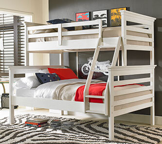 Dolce Kids & Teens   Lucca Collection Bunk Bed - Sea Shell White