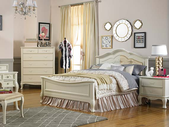 Angelina Collection w/ Reversible Headboard